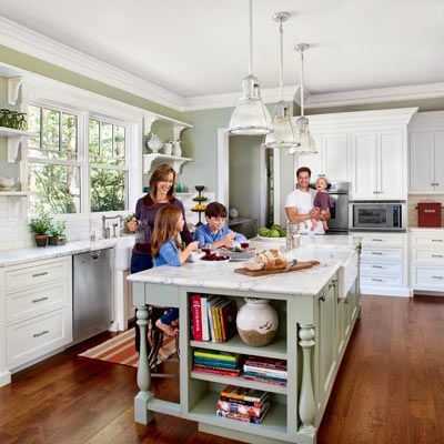 A Kitchen Designed With The Kids In Mind This Old House