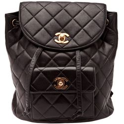 <b>Chanel</b> '90s vintage quilted backpack, $2250.
