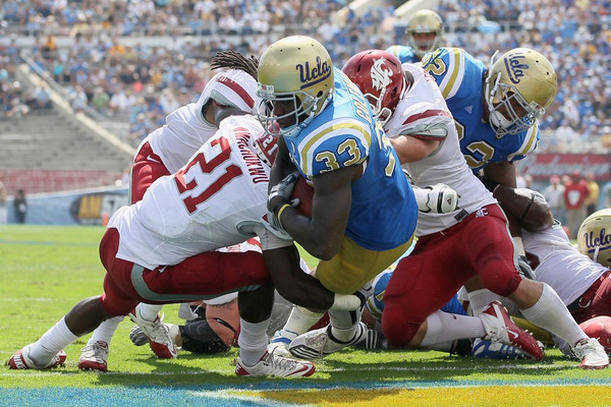 Ledgerwood and Nwachukwu make a tackle....in the end zone.