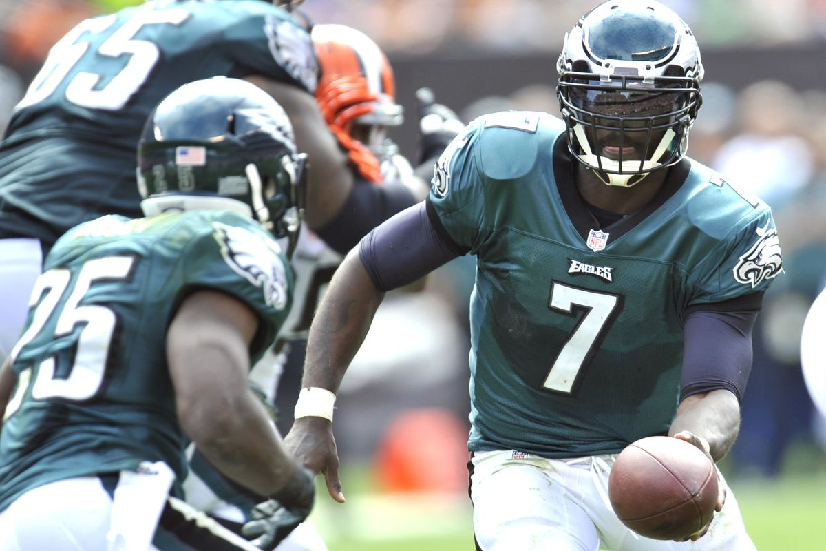 One of the few times Sunday Michael Vick passed to the right team