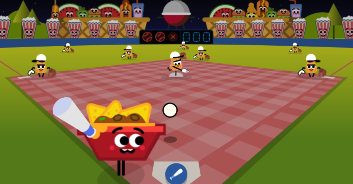 Play Baseball with your Food in a New July Fourth Google Doodle