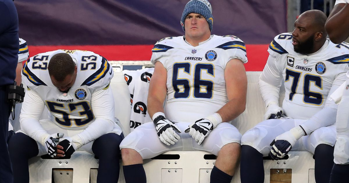 Chargers offensive line ranked 29th by Pro Football Focus