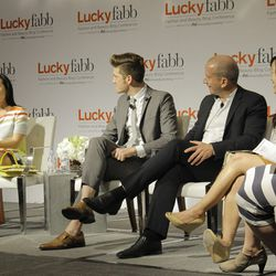 The Tools You Need to Grow Your Business Panel: Bag Snob's Tina Craig, Fohr Card's James Nord, LinkShare's Scott Allan, Pinterest's Annie Ta and Beso's Elise Loehnen.