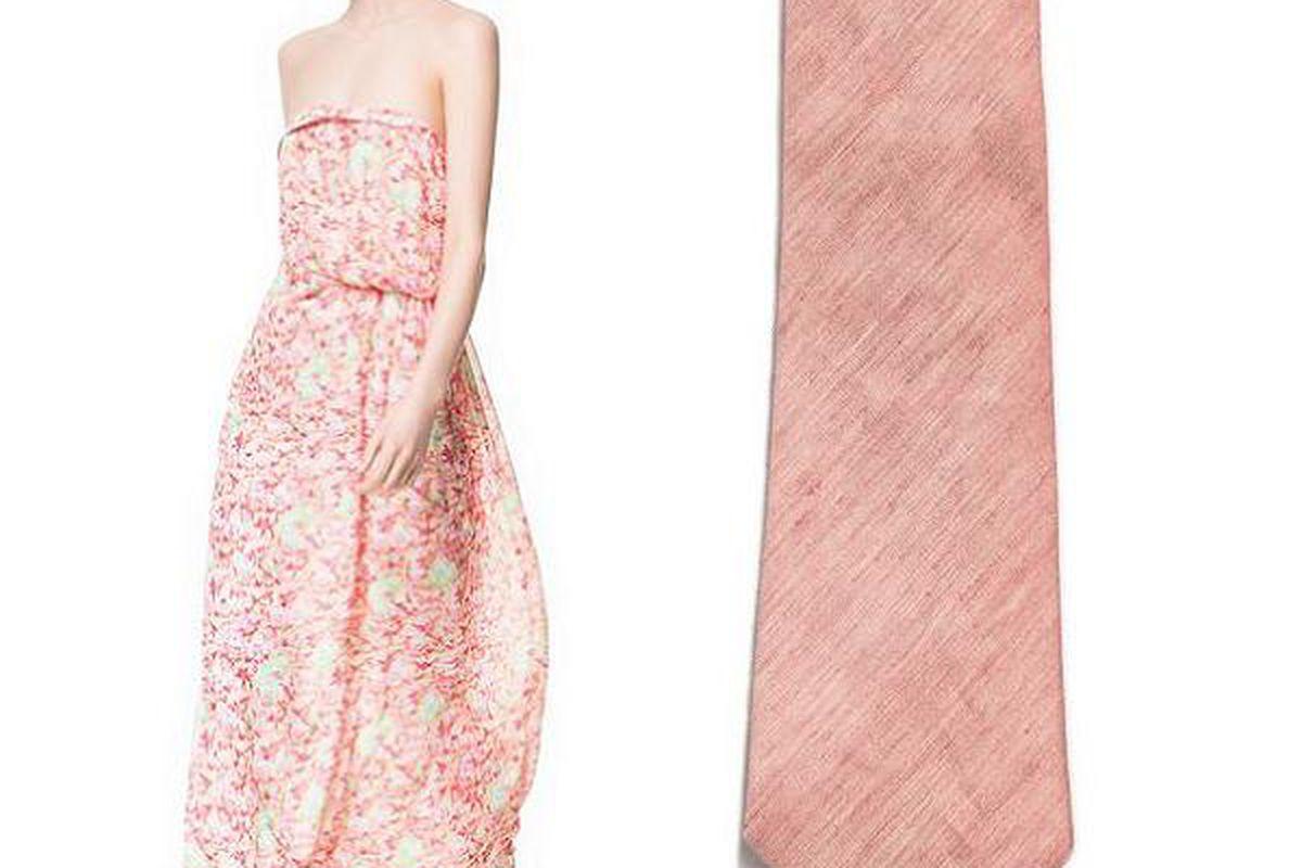 Zara dress, $89.90, and tie, $35.90