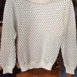 Baby alpaca sweater, $130