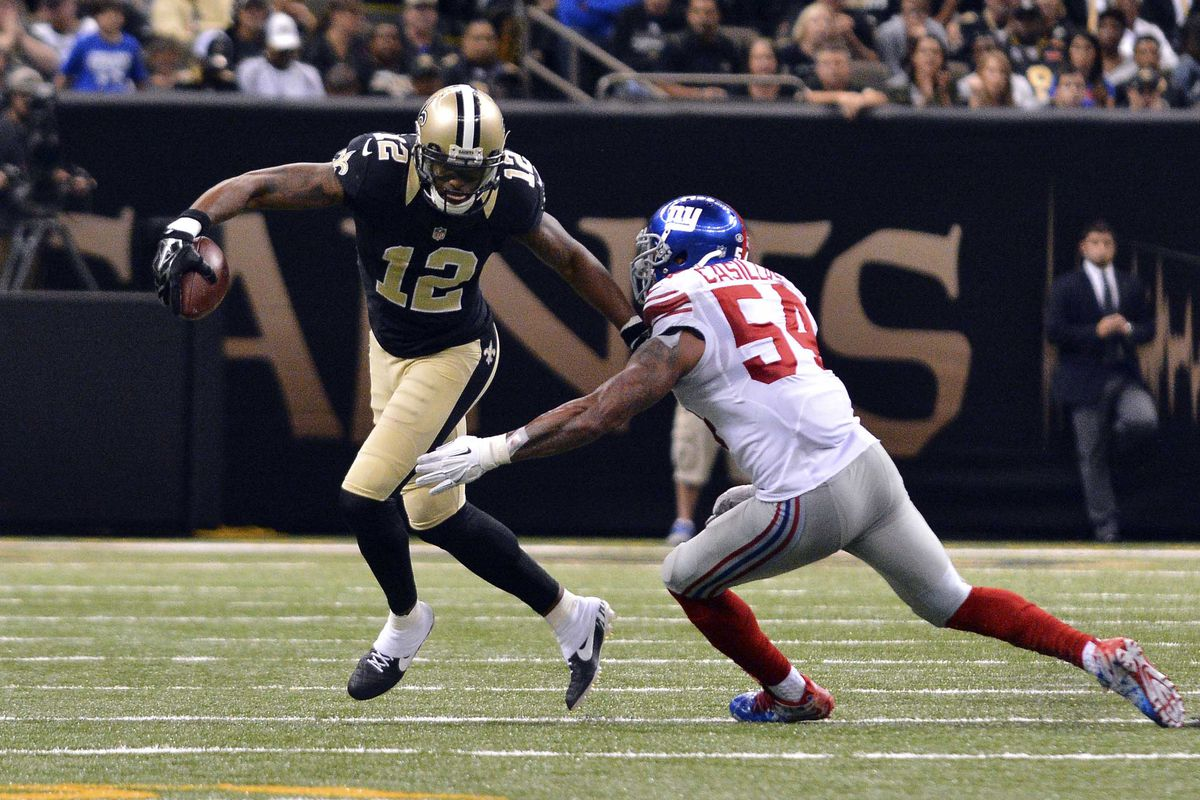 Marques Colston against the Giants in 2015