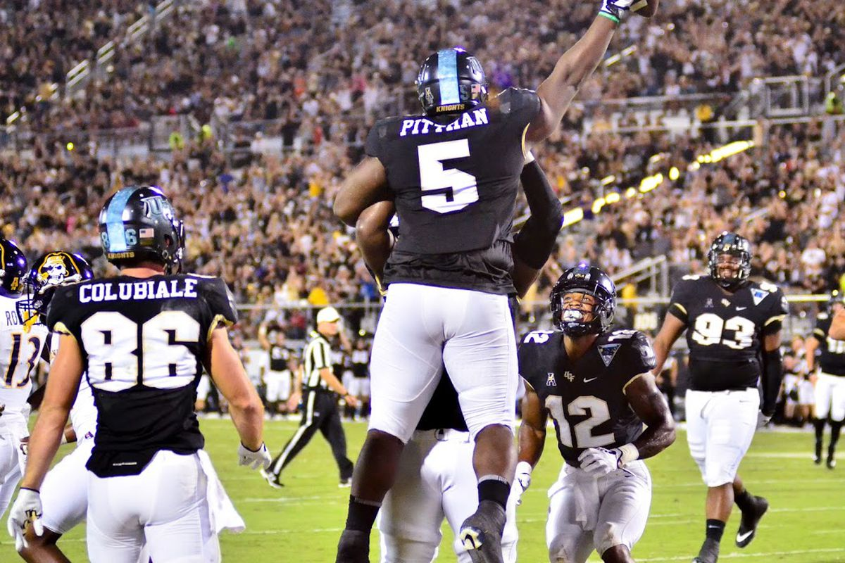 Jamiyus Pittman and the rest of UCF's defense will have its hands full with the Navy Midshipmen on Saturday.