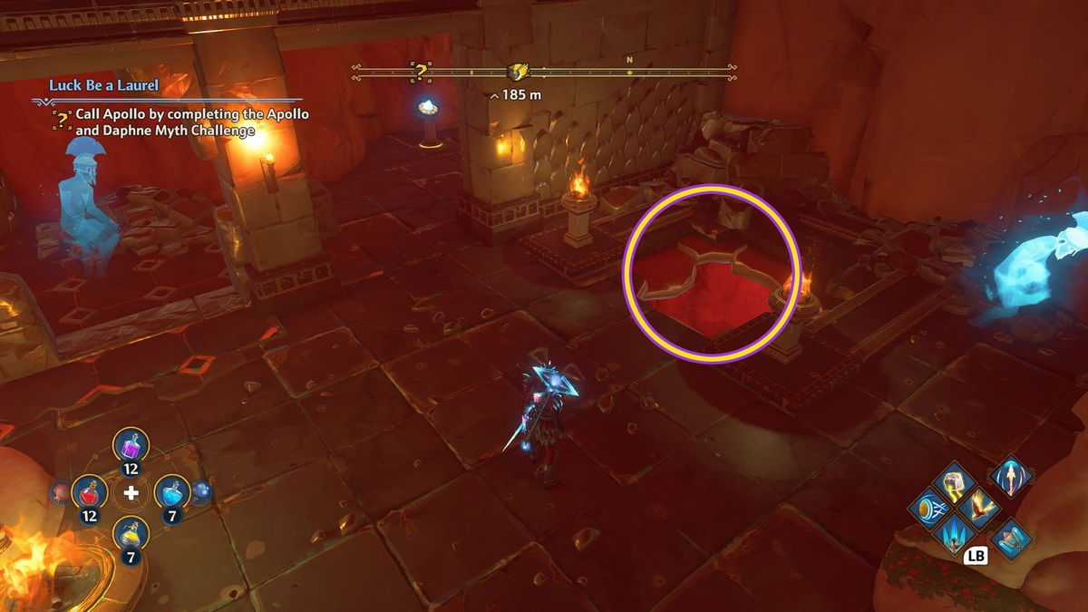 A hole in the floor in Immortals Fenyx Rising