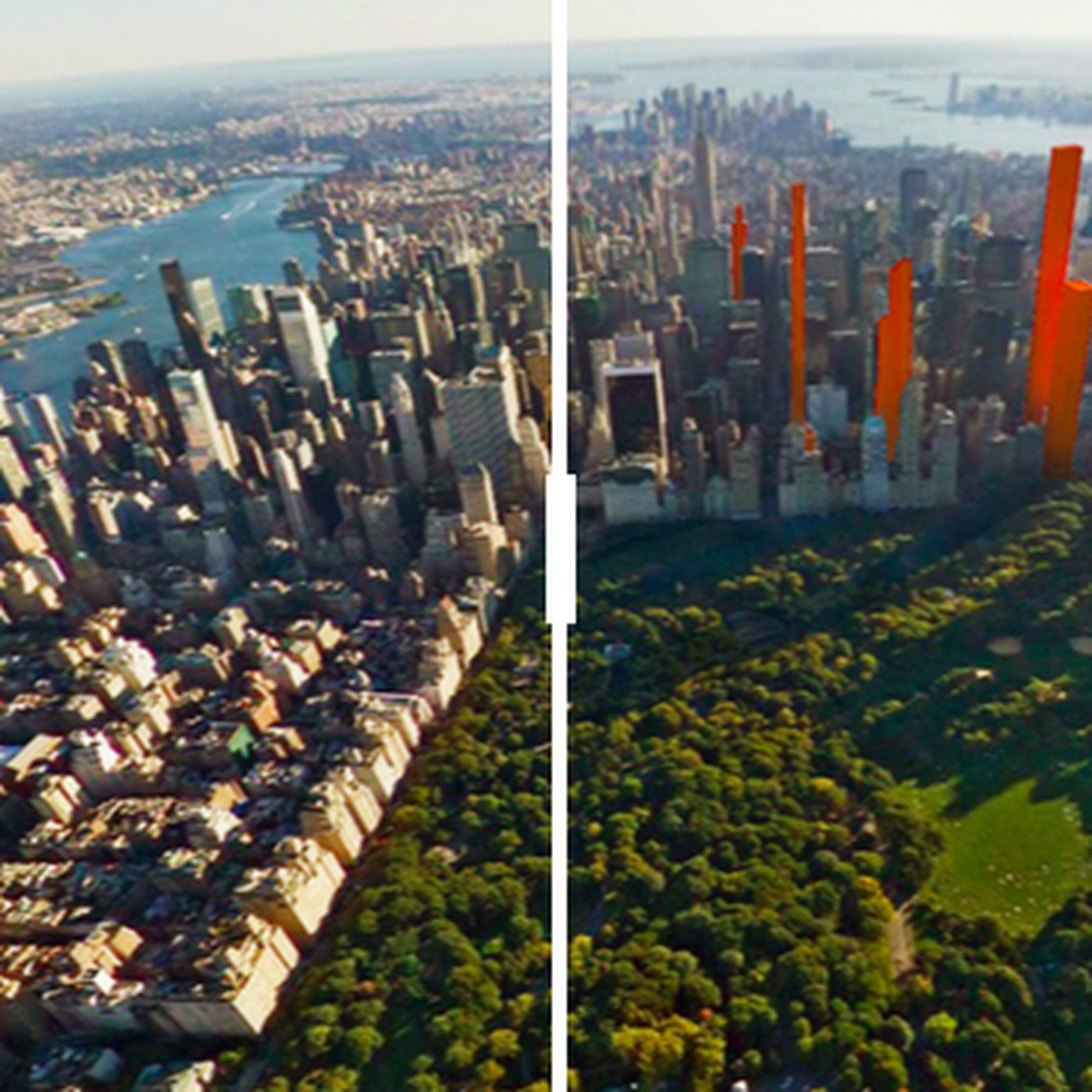 See how Manhattan's new skyscrapers will cast shadows on