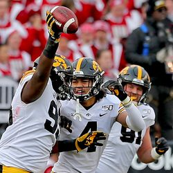 Noah Shannon (#99) recovered a fumble in the 1 st half for Iowa.