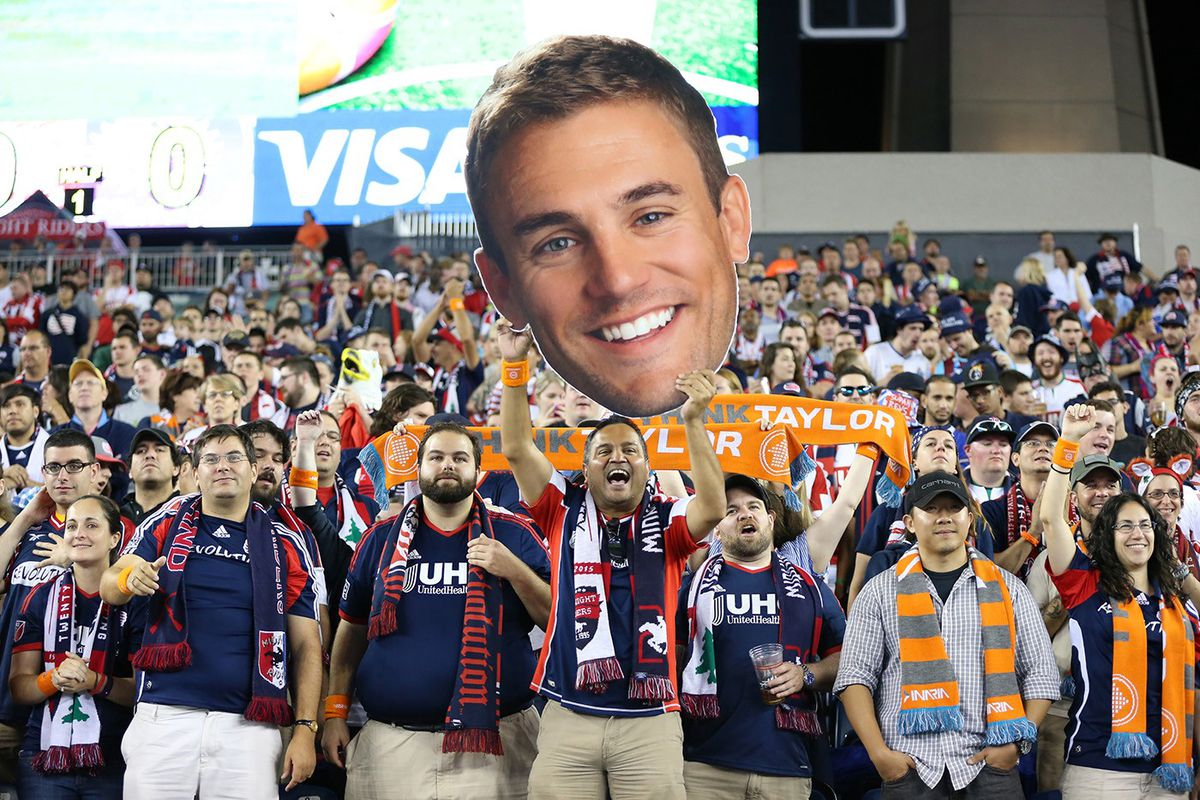 New England Revolution fans chant Taylor Twellman's name during a 2015 match. Twellman would retire because of concussion-related concerns. (GettyImages)