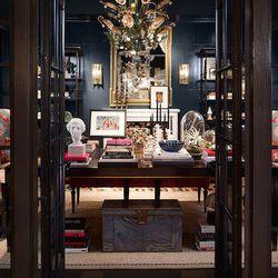 "Jessica Lagrange of Jessica Lagrange Interiors designed the study. She created the space, she said, for ""a devoted art collector who appreciates all aspects of fine design."""