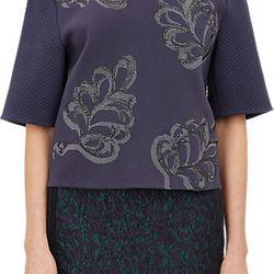 "3.1 Phillip Lim metallic-embroidered sweatshirt, <a href=""http://www.barneys.com/3.1-phillip-lim-metallic-embroidered-sweateshirt-503919612.html#prefn1=onSale&sz=48&start=317&prefv1=Sale"">$119</a> (from $495)"