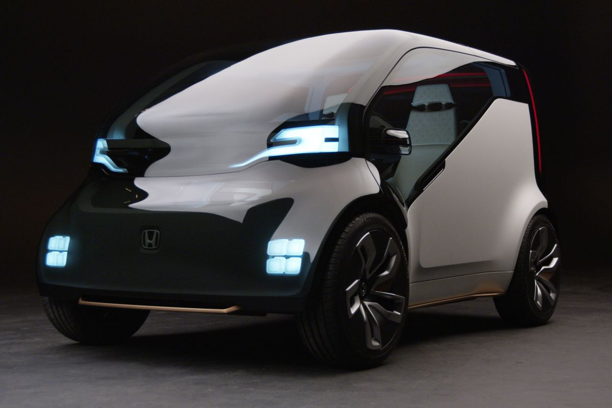 Honda Unveils First Electric Ride Sharing Concept Car