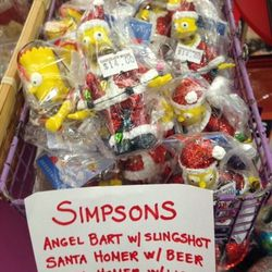 """Simpsons ornaments, $14 at <a href=""""http://www.chocolatemoosedc.com"""">Chocolate Moose</a>"""