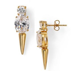 """<b>nOir</b> Spiked Stud Earrings, <a href=""""http://www1.bloomingdales.com/shop/product/noir-spiked-stud-earrings?ID=668130&CategoryID=20033&LinkType=#fn=JEWELRY_AND_ACCESSORIES_TYPE=Earring&PRICE=0%7C49.99&spp=61&ppp=96&sp=4&rid=2"""">$45</a> at Bloomingdale'"""