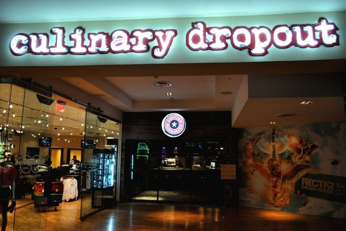 Culinary Dropout's main sign.