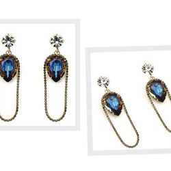 """The <a href=""""http://www.nicolemiller.com/AURORA_CHAIN_WRAPPED_DROP_EARRINGS/pd/np/278/p/3450.html"""">Aurora Chain Wrapped Drop Earrings</a> ($253) from Philly's own Nicole Miller."""