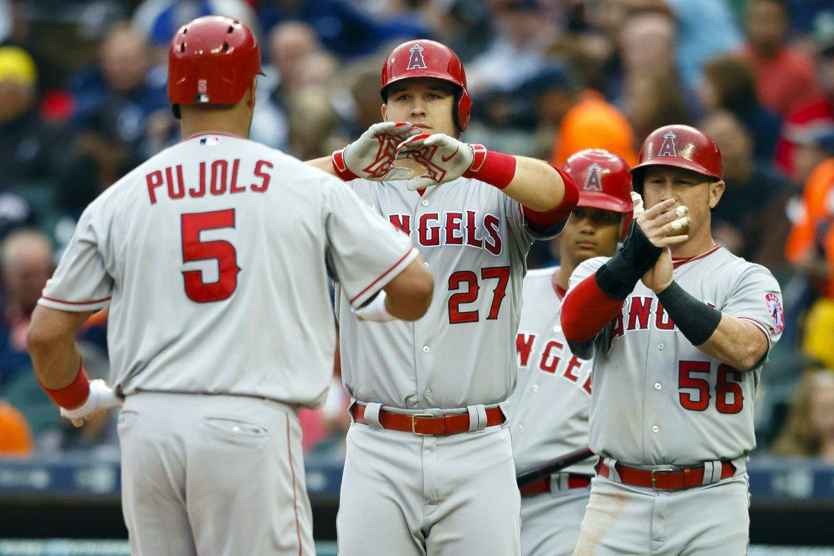 Albert Pujols and Mike Trout have basically been the Angels offense this year