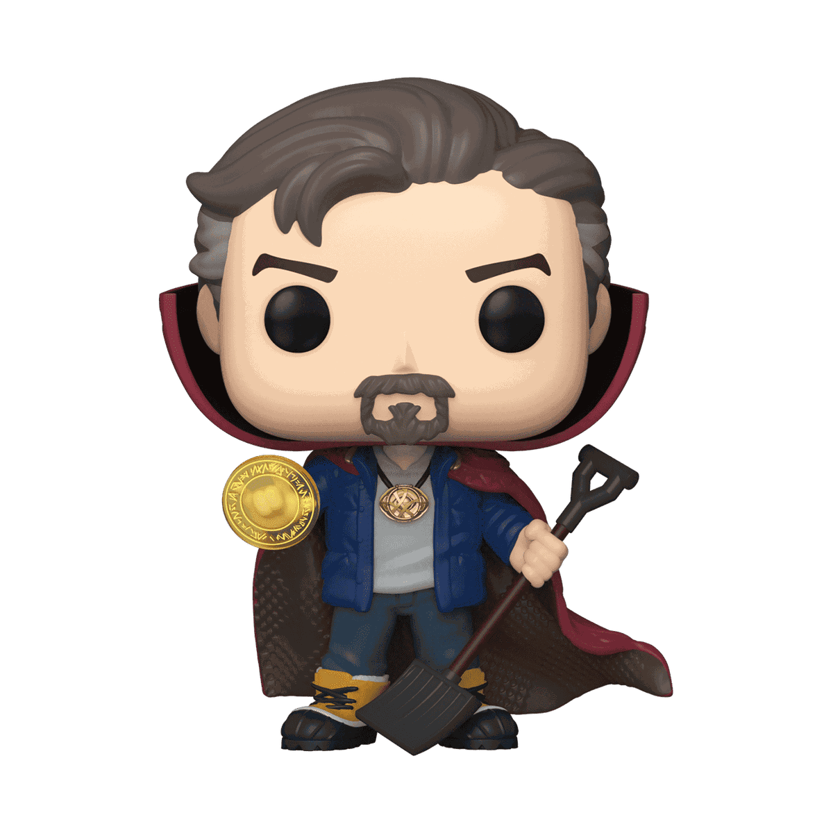 A Funko Pop of Dr. Strange from Spider-Man: No Way Home