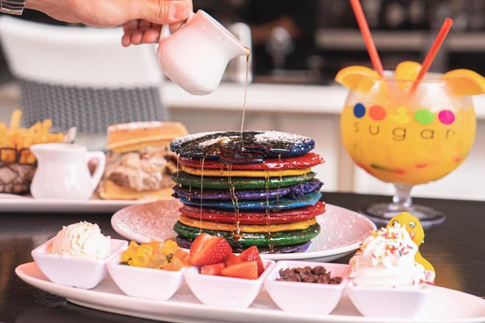 Multi-colored pancakes