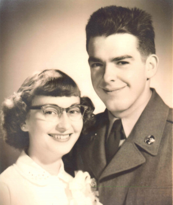 Ken and Alice Little on their wedding day. He served as a military police officer in the U.S. Army at Fort Lewis in Washington.   Provided photo