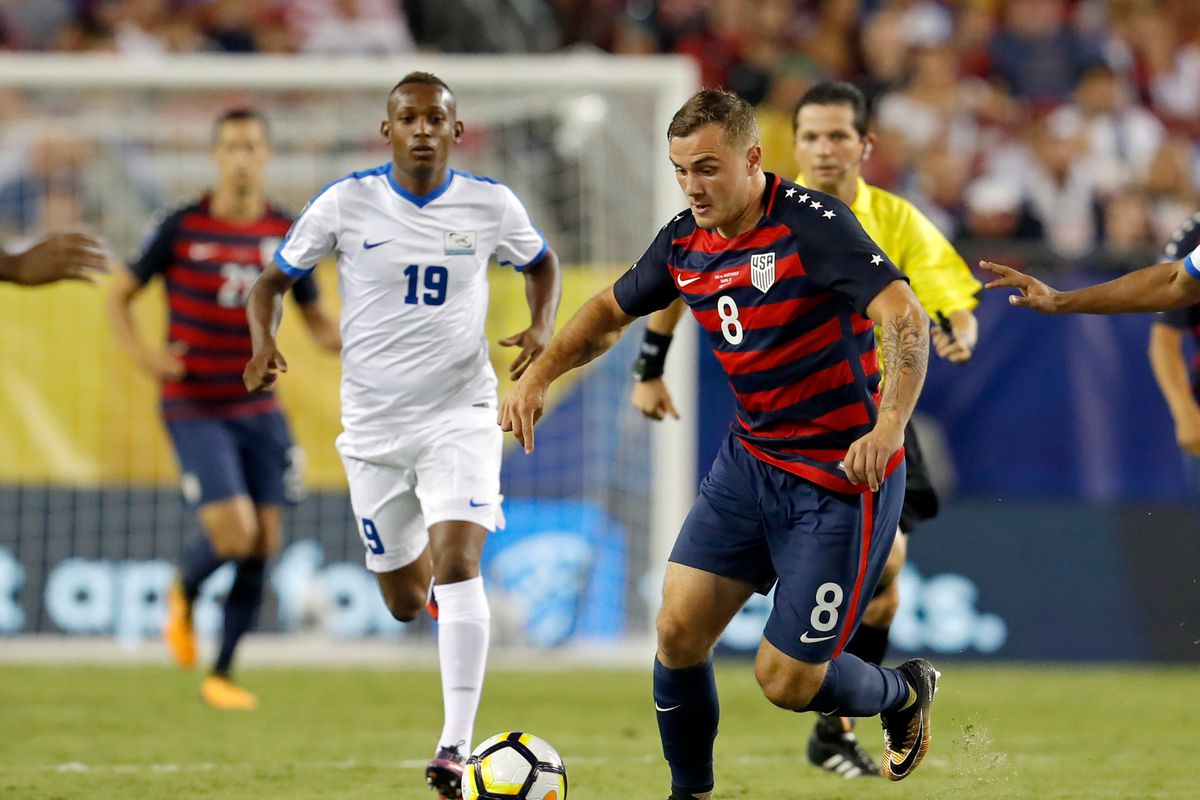 Jordan Morris Sporting Clint Dempsey S Traditional 8 For The Usmnt Photo By Mike Carlson Getty Images