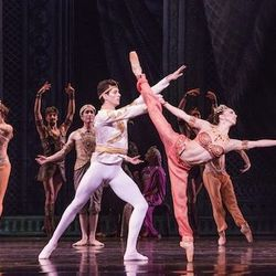 Dancers April Daly and Dylan Gutierrez.