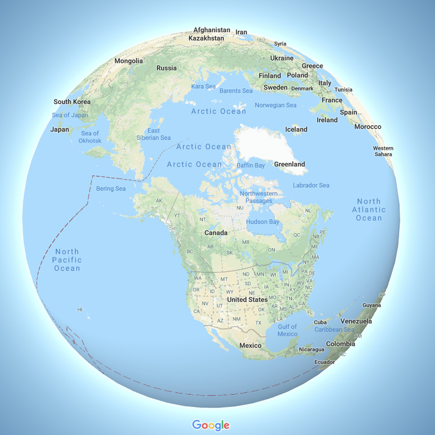 Google Maps Now Depicts The Earth As A Globe The Verge