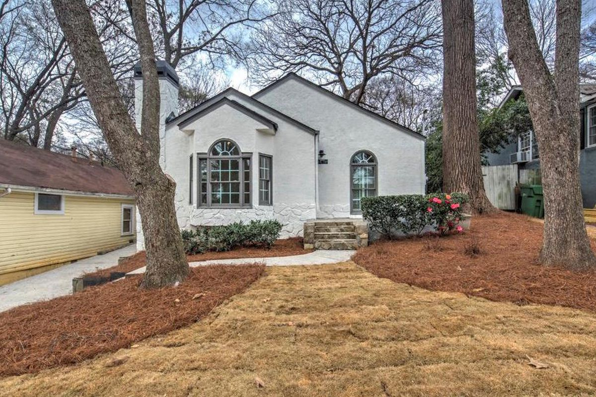 A renovated white bungalow in Atlanta's Loring Heights.