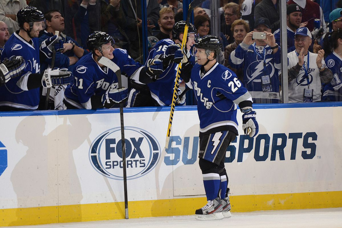 In spite of the outcome, the story of the day was Marty St. Louis and probably the greatest individual effort in the history of the Lightning