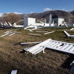 Wind damage in Centerville, Thursday, Dec. 1, 2011.
