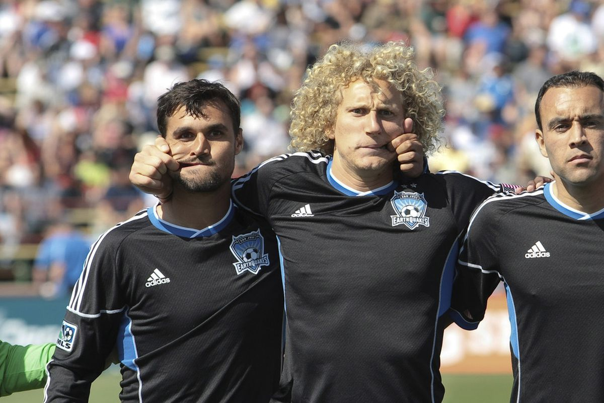 The question is can RSL force these two to be a bit more serious on Saturday? Mandatory Credit: Kelley L Cox-US PRESSWIRE
