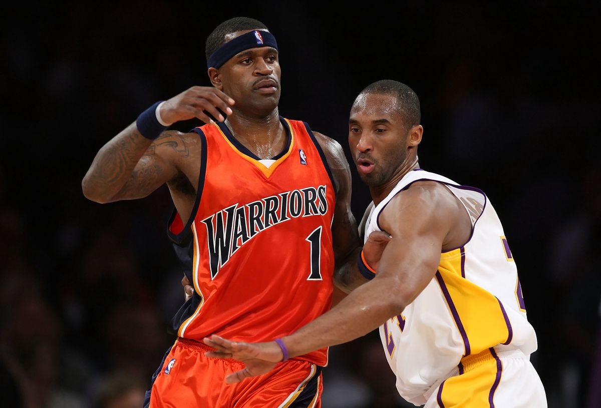 Jackson and Kobe Bryant in 2008 (GettyImages)