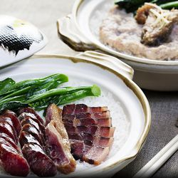 Hong Kong Cafe Chinese sausage with white rice