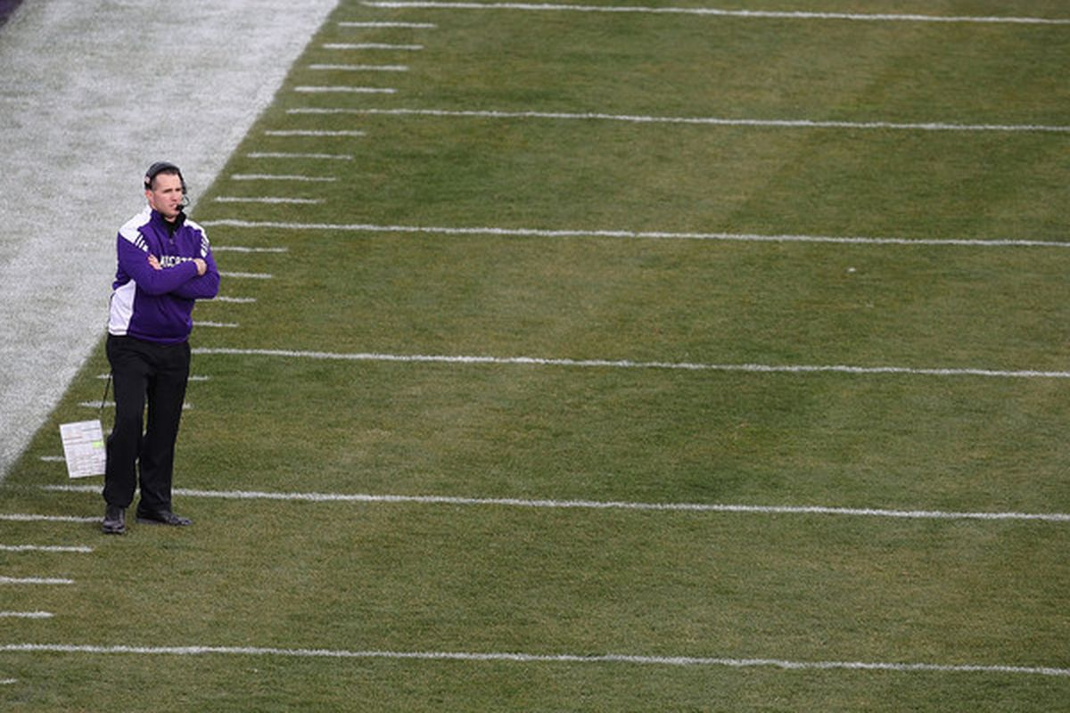Pat Fitzgerald, a Northwestern man through and through. (Photo by Jonathan Daniel/Getty Images)