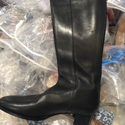 Knee-high leather boot, size 37, $350