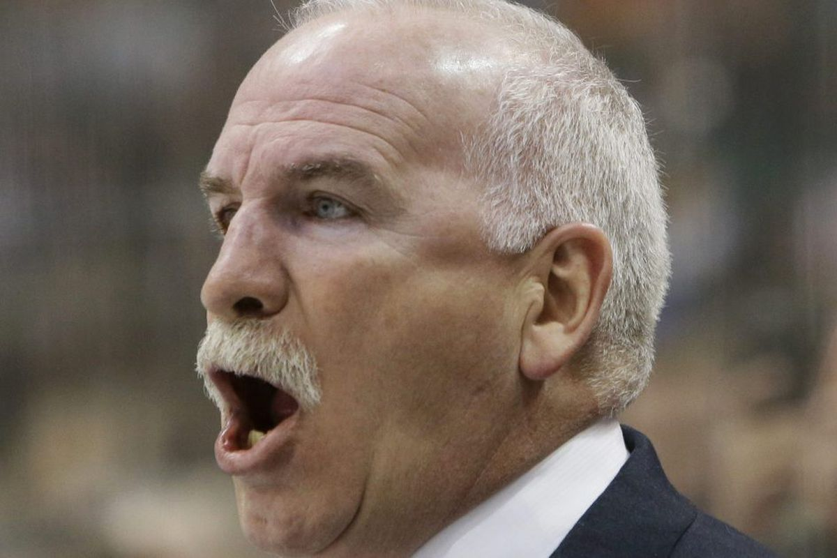 4aac905ad19 Chicago Blackhawks coach Joel Quenneville yells from the bench. | LM  Otero/AP Photo