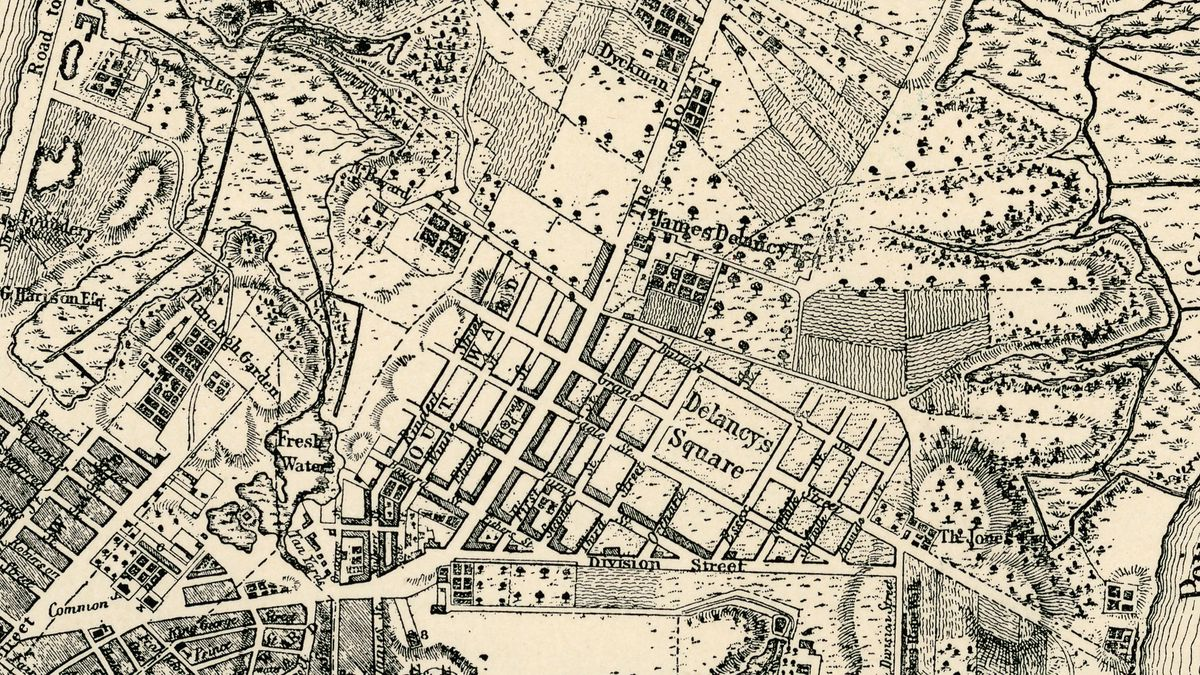 Detailed Map Of New York City.A Walking Tour Of 1767 New York Curbed Ny