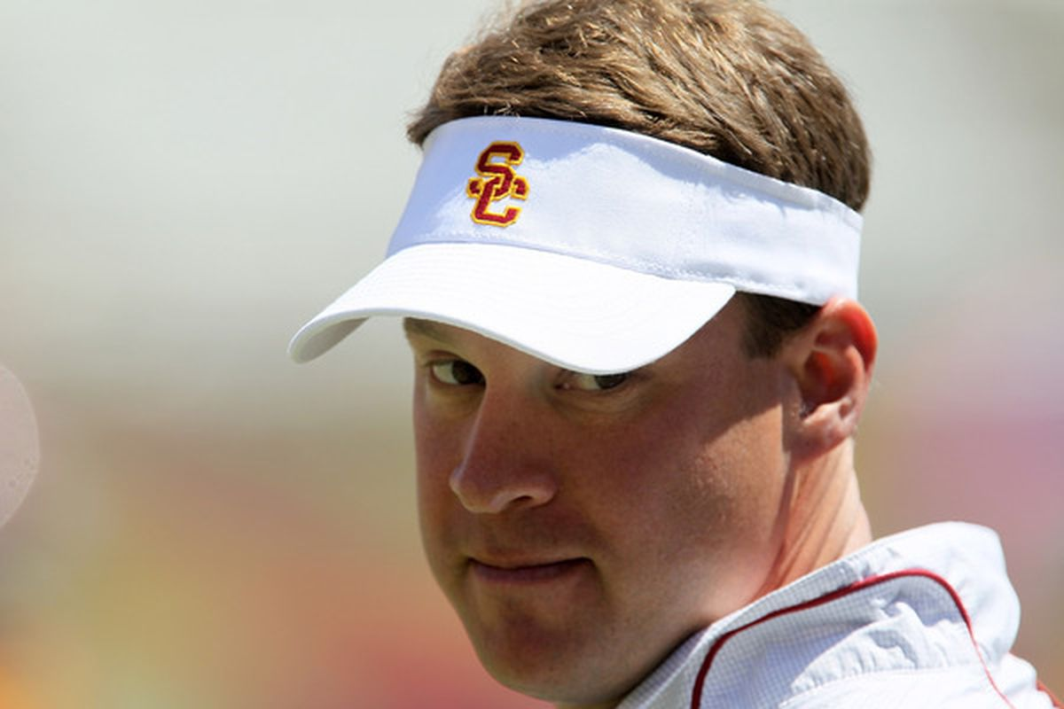 LOS ANGELES, CA - WHY HELLO KIFFIN.  (Photo by Stephen Dunn/Getty Images)