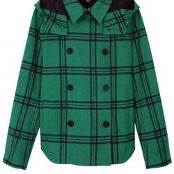 "Tibi plaid hooded coat, <a href=""http://www.tibi.com/shop/outerwear/evergreen-plaid-hooded-coat"">$695</a>"