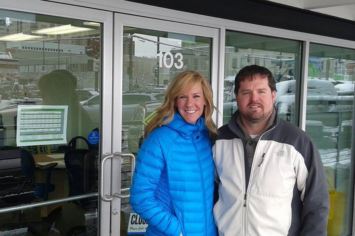 GoBistro owners, Mike Keuler and Colleen Eager, outside the GoBistro retail shop.