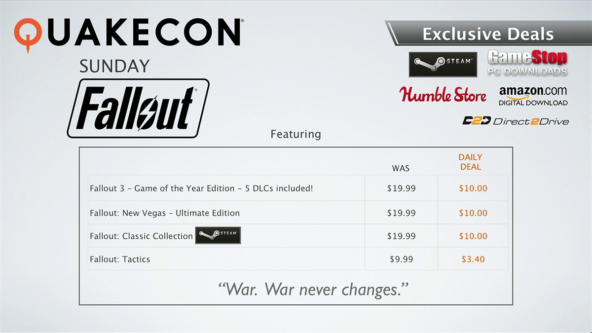 Quakecon 2015 sales