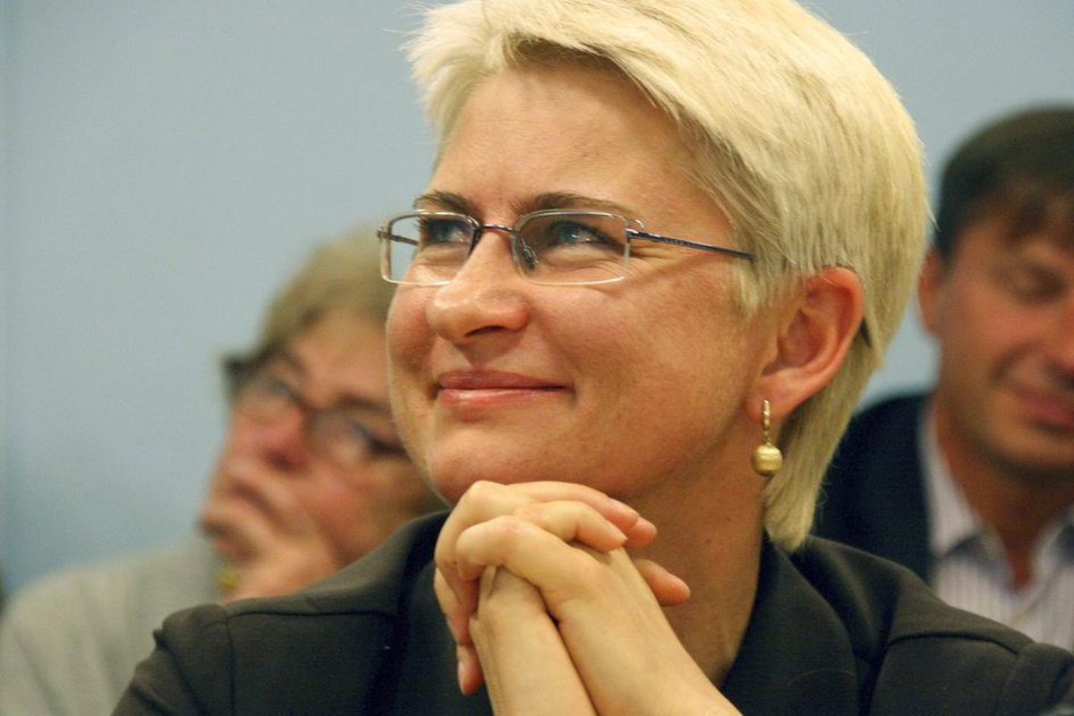 Neringa Venckiene, an ex-Lithuanian judge and parliamentarian who is seeking political asylum in the United States.