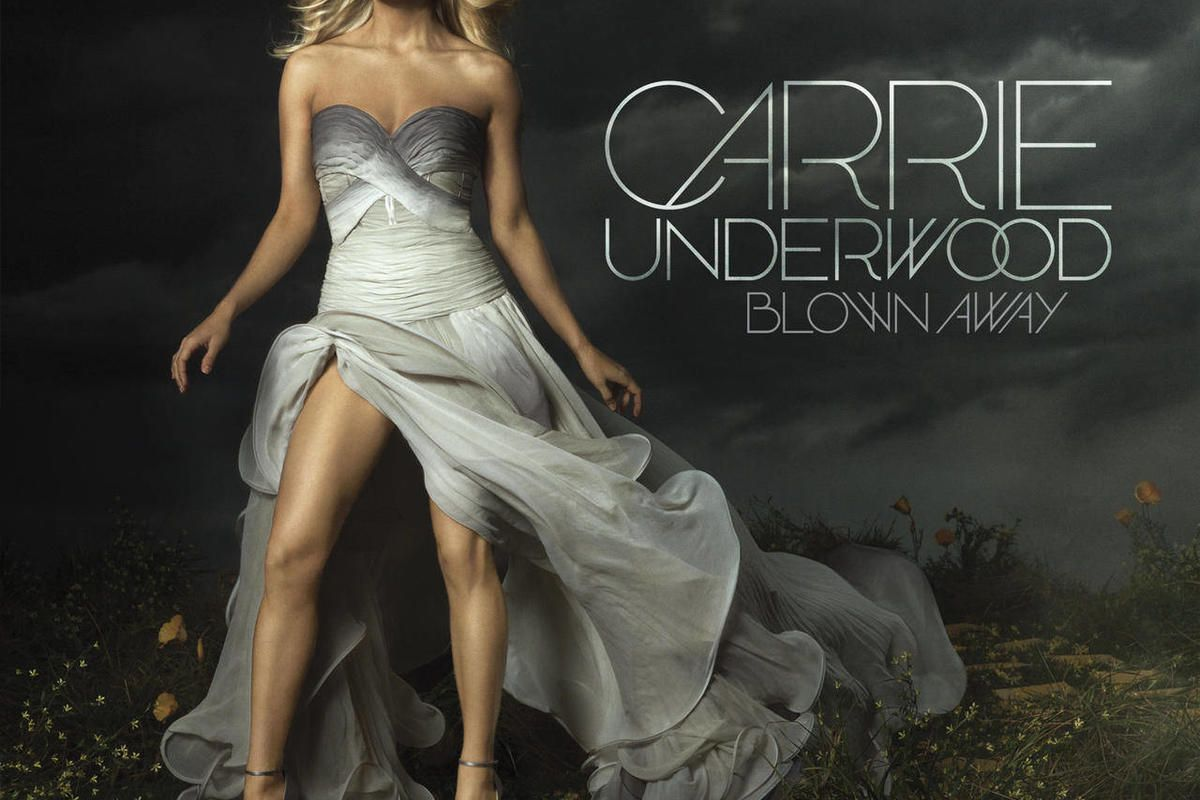 """In this CD cover image released by Sony Music Nashville, the latest release by Carrie Underwood, """"Blown Away,"""" is shown."""