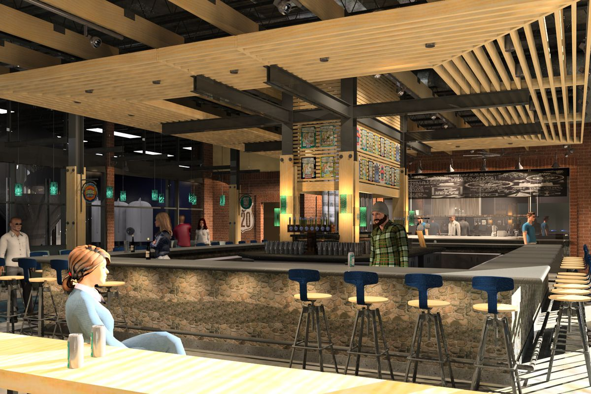 Rendering of SweetWater Brewing Company's new taproom