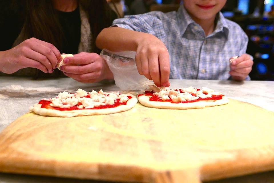 Kids Making Their Own Pizzas At Stella Barra Facebook