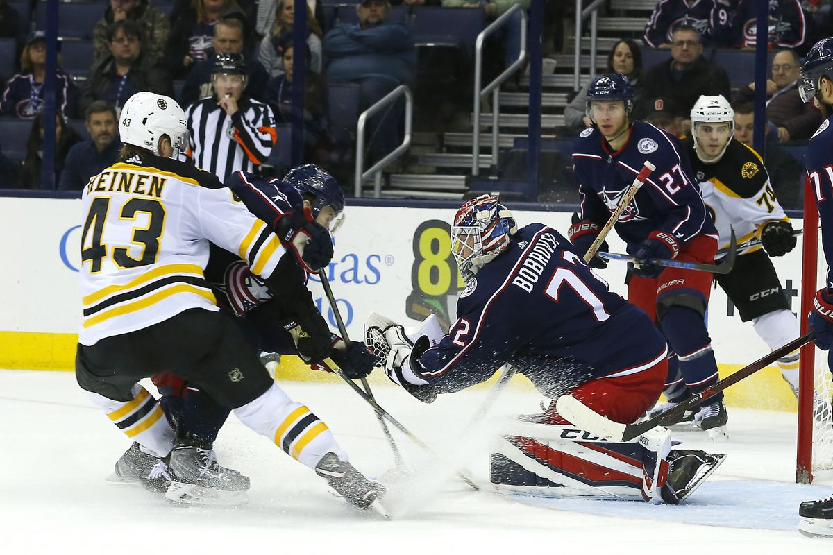 Game 70 Preview Boston Bruins At Columbus Blue Jackets The Cannon