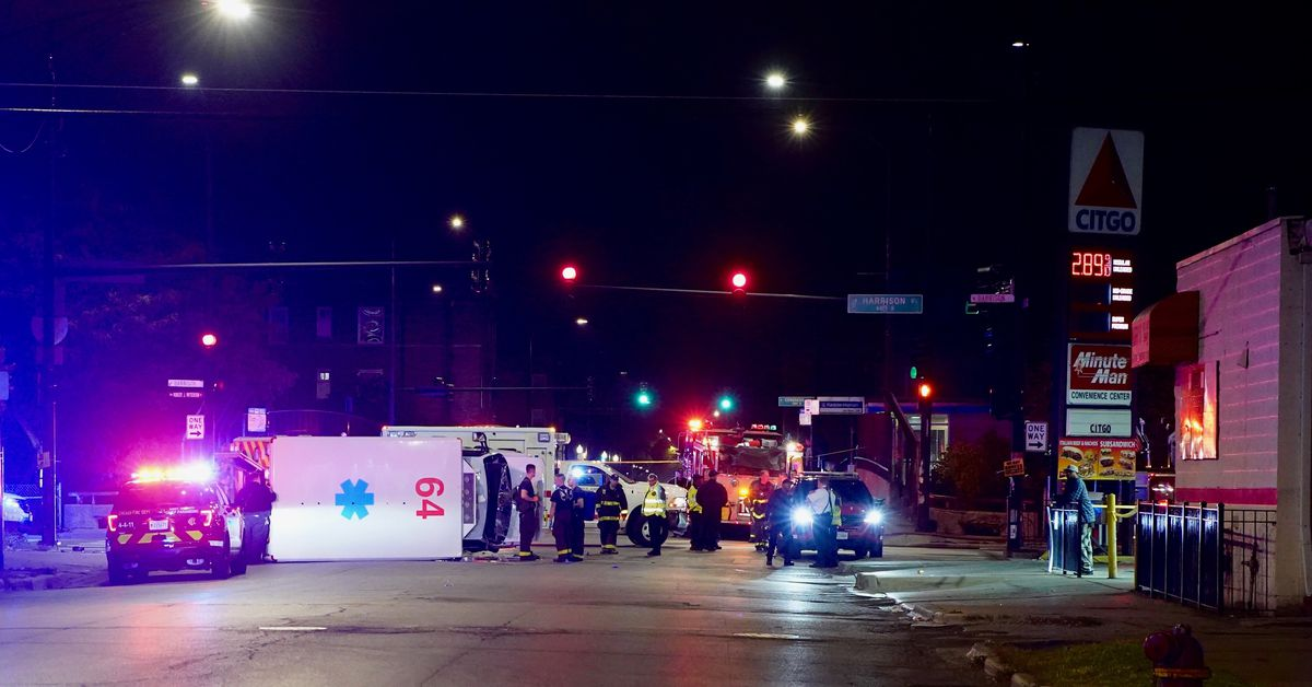 Cops slam into ambulance responding to shooting that wounded 3 in Homan Square