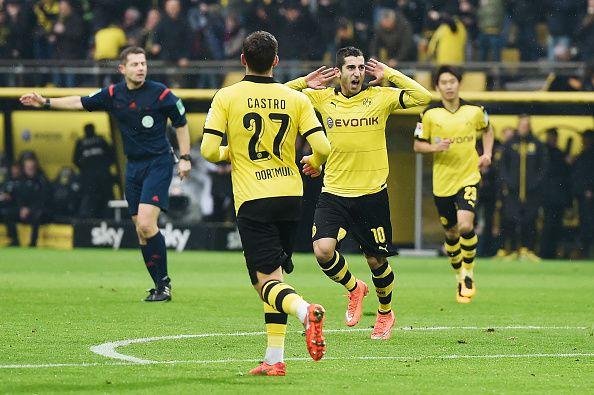 Mkhitaryan celebrates his winning goal